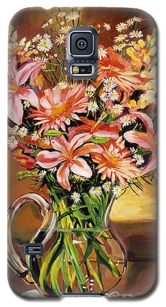 Flowers In Glass Galaxy S5 Case
