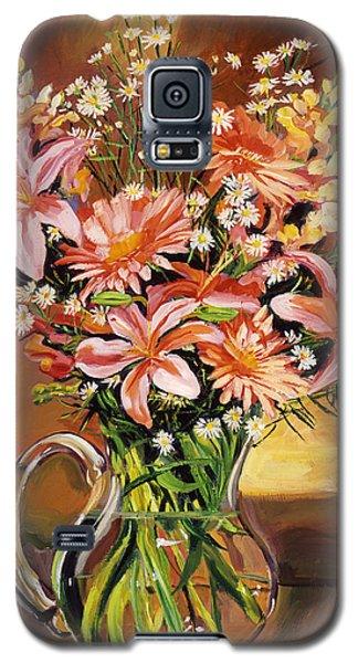 Flowers In Glass Galaxy S5 Case