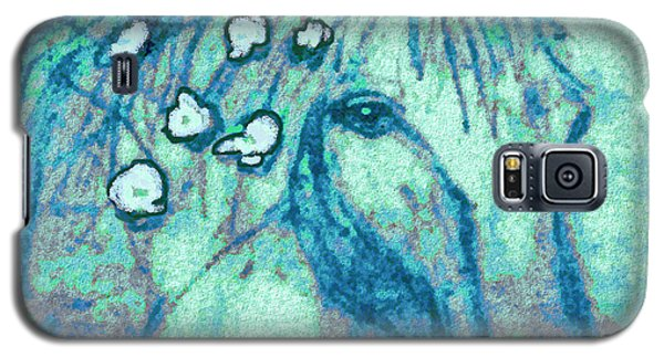 Galaxy S5 Case featuring the painting Flowers In Her Hair by Holly Martinson