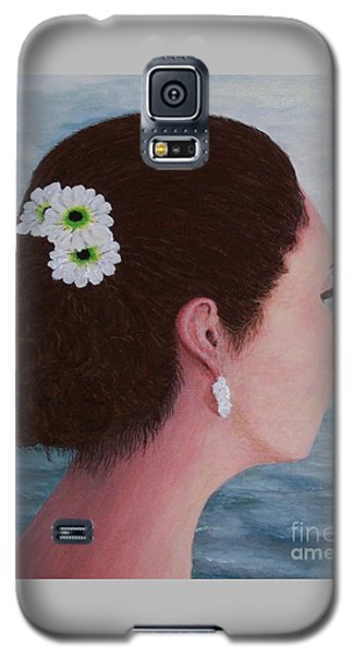 Galaxy S5 Case featuring the painting Flowers In Her Hair by Judy Kirouac