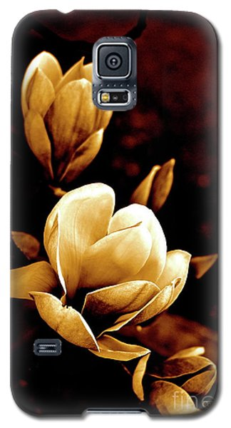 Galaxy S5 Case featuring the photograph Flowers In Sepia  by Cathy Dee Janes