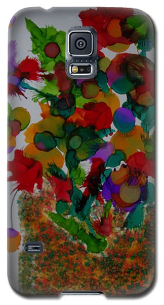 Galaxy S5 Case featuring the painting Flowers In The Vase # 63 by Sima Amid Wewetzer