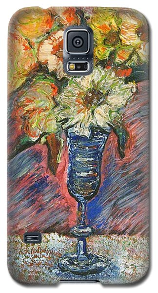Flowers In Wine Glass Galaxy S5 Case