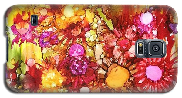 Flowers In Yellow And Pink Galaxy S5 Case by Suzanne Canner