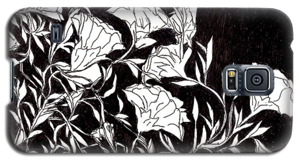 Galaxy S5 Case featuring the drawing Flowers by Lou Belcher