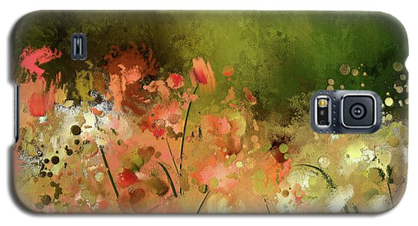 Galaxy S5 Case featuring the digital art Flowers Of Corfu by Lois Bryan
