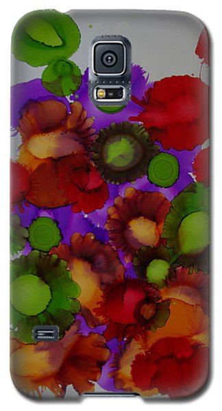 Galaxy S5 Case featuring the painting Flowers Of Paradise # 66 by Sima Amid Wewetzer