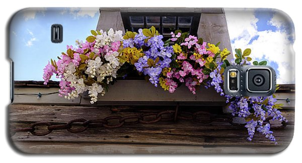 Flowers On A Rooftop Balcony In Saint Augustine Florida Galaxy S5 Case