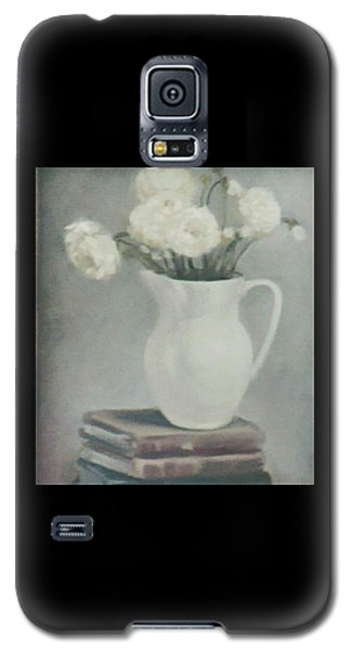 Flowers On Old Books Galaxy S5 Case