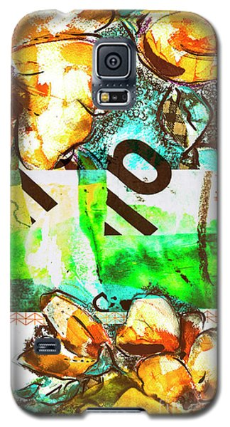 Flowers On Paper,  Collage And Acrylic Galaxy S5 Case