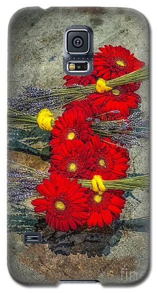 Galaxy S5 Case featuring the photograph Flowers On Rocks by Nick Zelinsky