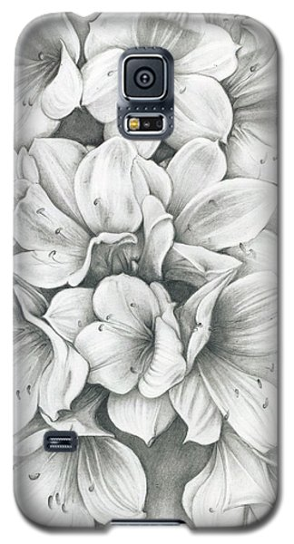 Clivia Flowers Pencil Galaxy S5 Case
