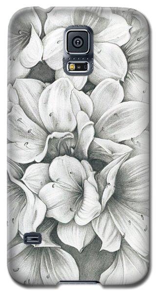 Clivia Flowers Pencil Galaxy S5 Case