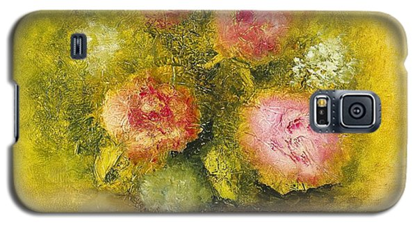 Galaxy S5 Case featuring the painting Flowers Pink by Marlene Book