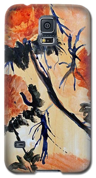 Galaxy S5 Case featuring the painting Flowers by Sandy McIntire