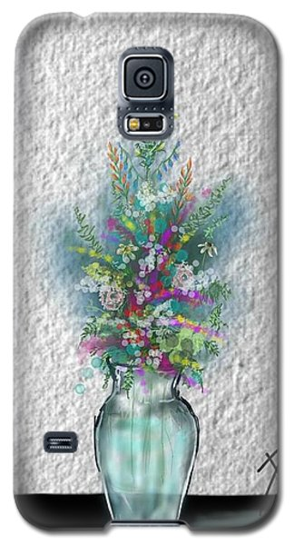 Galaxy S5 Case featuring the digital art Flowers Study Two by Darren Cannell