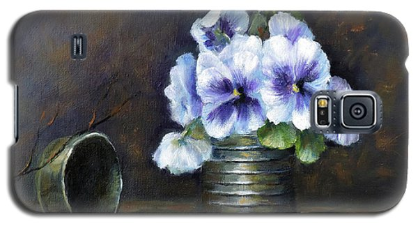 Flowers,pansies Still Life Galaxy S5 Case