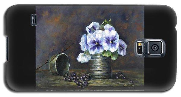Flowers,pansies Still Life Galaxy S5 Case