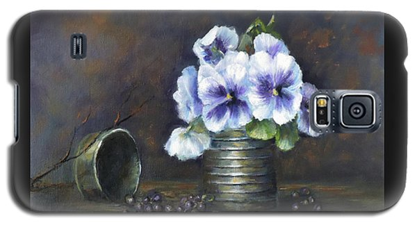 Flowers,pansies Still Life Galaxy S5 Case by Luczay