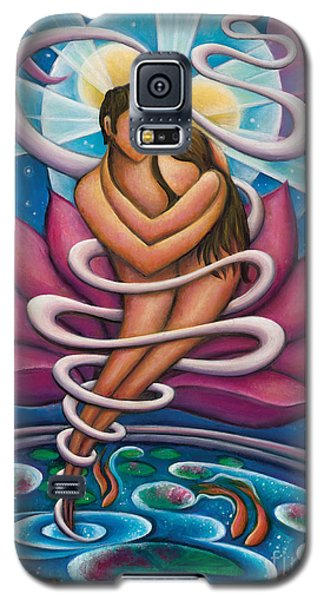 Galaxy S5 Case featuring the painting Flowing And Growing In The Arms Of Love by Tiffany Davis-Rustam