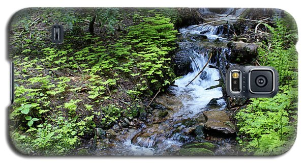 Galaxy S5 Case featuring the photograph Flowing Creek by Ben Upham III