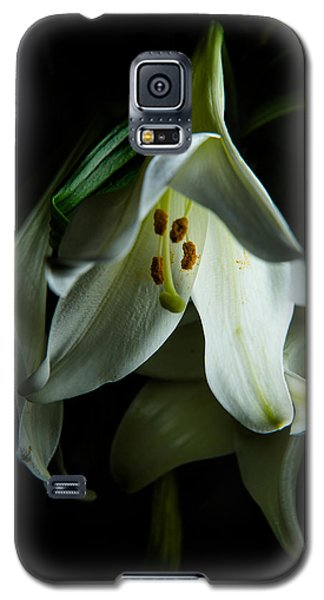 Flowing White Lily Galaxy S5 Case
