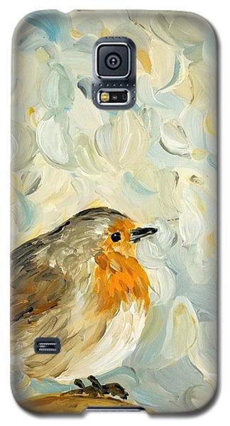 Fluffy Bird In Snow Galaxy S5 Case