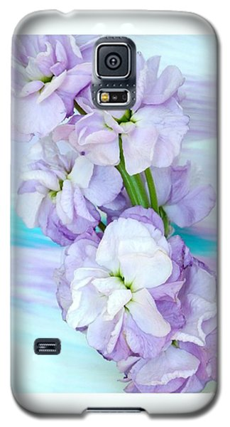 Galaxy S5 Case featuring the mixed media Fluffy Flowers by Marsha Heiken