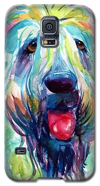 Colorful Galaxy S5 Case - Fluffy Wheaten Terrier Portrait By by Svetlana Novikova