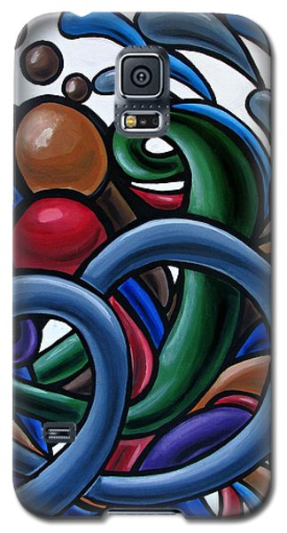Colorful Abstract Art Painting Chromatic Water Artwork Galaxy S5 Case