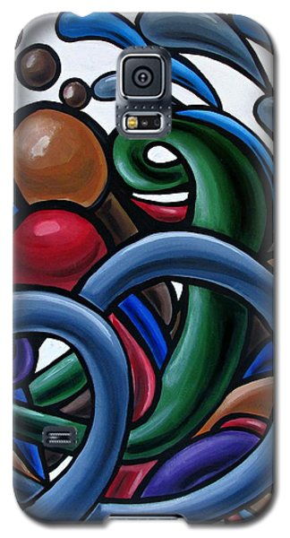 Fluid 2 - Original Abstract Art Painting - Chromatic Fluid Art Galaxy S5 Case