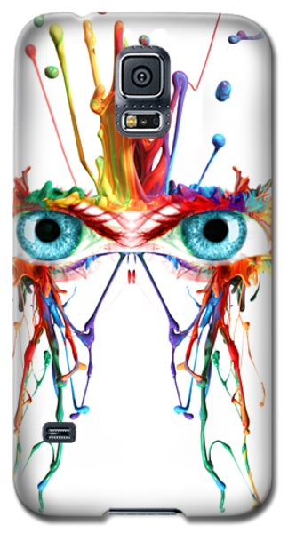 Fluid Abstract Eyes Galaxy S5 Case