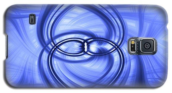 Fluid Blue Galaxy S5 Case by Carolyn Marshall