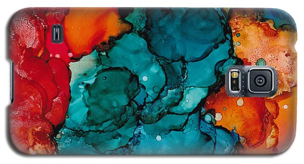 Galaxy S5 Case featuring the painting Fluid Depths Alcohol Ink Abstract by Nikki Marie Smith