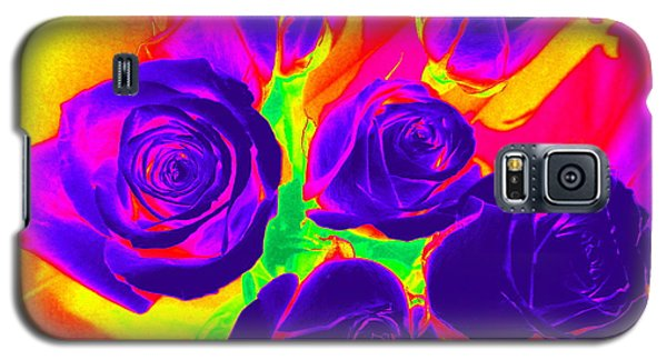 Fluorescent Roses Galaxy S5 Case