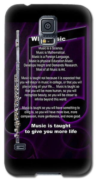 Flute Why Music Photographs Or Pictures For T-shirts 4824.02 Galaxy S5 Case