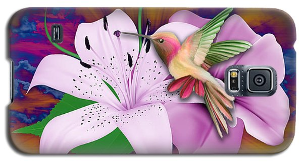 Galaxy S5 Case featuring the mixed media Fluttering by Marvin Blaine