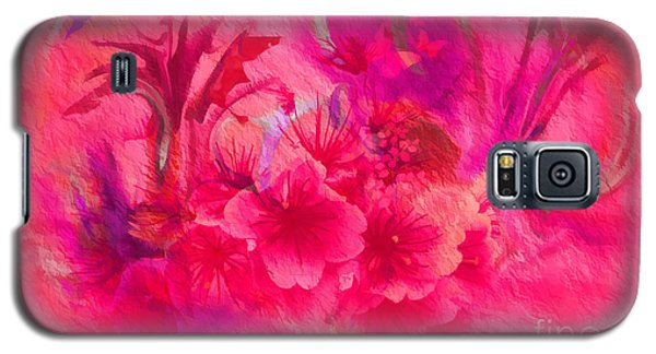Flower Art Pinky Pink  Galaxy S5 Case by Sherri's Of Palm Springs