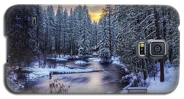Galaxy S5 Case featuring the photograph Fly Fisherman On The Metolius by Cat Connor
