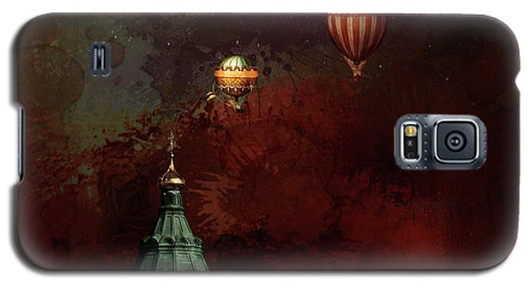 Galaxy S5 Case featuring the digital art Flying Balloons Over Stockholm by Jeff Burgess
