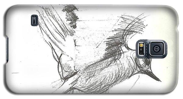 Flying Bird Sketch Galaxy S5 Case