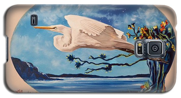 Flying Egret Galaxy S5 Case by Sigrid Tune