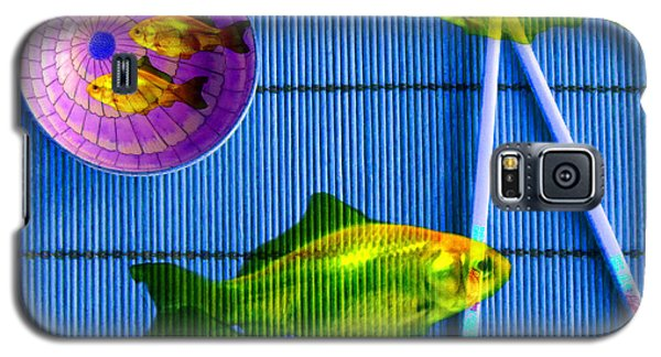 Flying Fish And The Pink Moon Galaxy S5 Case by LemonArt Photography