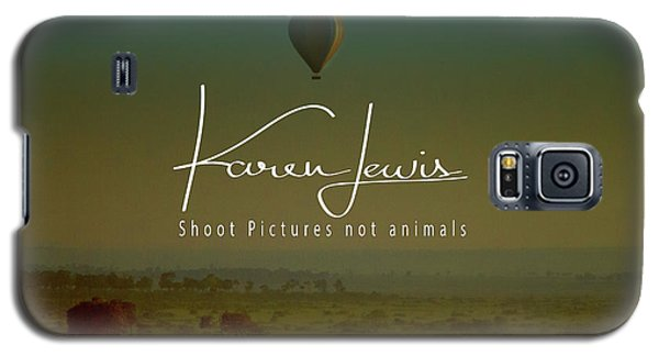 Galaxy S5 Case featuring the photograph Flying High On The Masai Mara by Karen Lewis