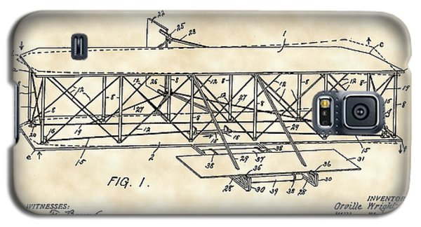 Flying Machine Patent 1903 - Vintage Galaxy S5 Case by Stephen Younts