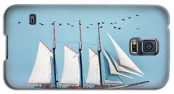 Galaxy S5 Case featuring the photograph Flying With The Ship by Elaine Manley