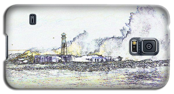 Galaxy S5 Case featuring the photograph Foamy Sea At The Breakwater by Nareeta Martin