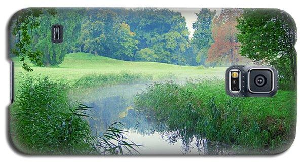 Fog Along A Creek In Autumn Galaxy S5 Case