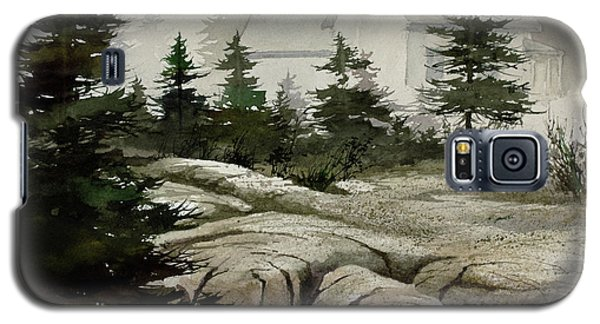 Galaxy S5 Case featuring the painting Fog At The Coast by James Williamson