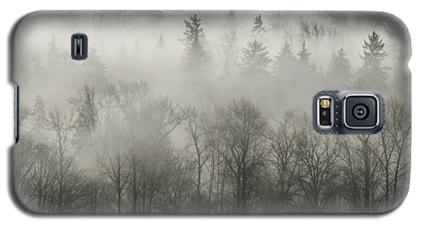 Galaxy S5 Case featuring the photograph Fog Enshrouded Forest by Lisa Knechtel